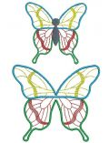 Stainglass 3D Butterfly